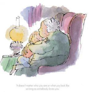 Roald Dahl and Sir Quentin Blake